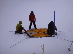 Greenland crossing expedition - North Face VE-25 tent