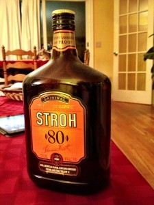 Greenland crossing expedition - Stroh rum 80pc alcohol