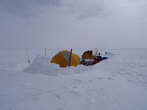 Greenland crossing expedition - camp RS