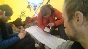 Greenland crossing expedition - mapping our course and kms RS