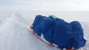 Greenland crossing expedition - pounding poweder after snow storm RS