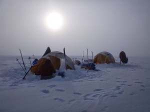 Greenland crossing expedition - radiating sleeping bags