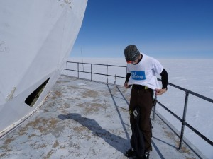 Greenland crossing expedition - Dye 2 station top dome outside RS