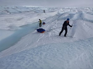 28 Greenland expediton - the tortuous terrain to cover trying to exit the western edge RS