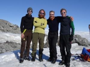 30 Greenland expediton - success and happy faces after 27 days and finally exiting the ice sheet RS